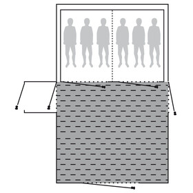 Outwell Fleece Carpet - Accesorios para tienda de campaña - Montana 6AC gris